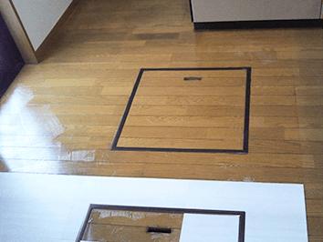 床材の張替befoer|テクノホームサービス